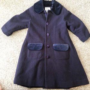 Florence Eiseman navy peacoat jacket size 4